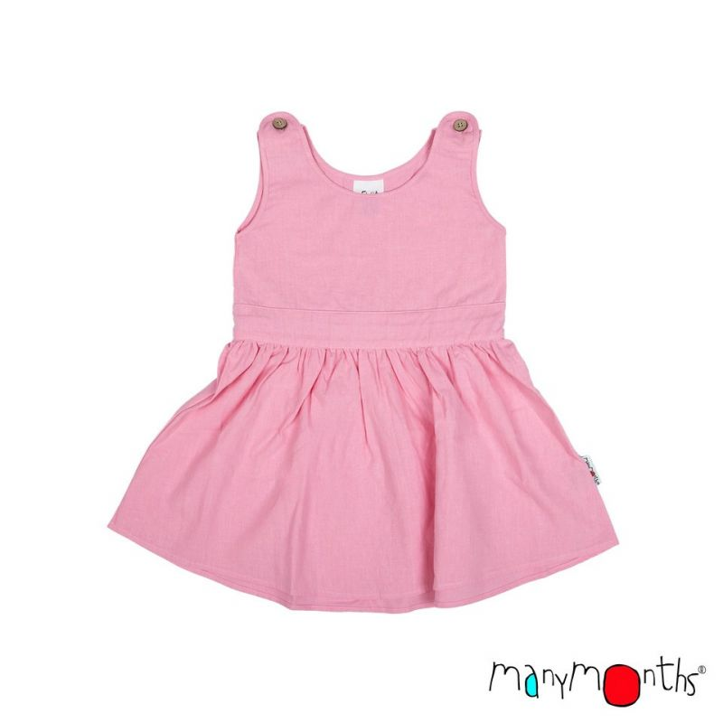 Robe estivale avec un noeud - Strawberry milk - Manymonths - 1