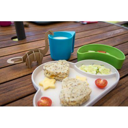 Set repas en bambou biodégradable Nuage (bleu/vert) - Tum Tum - 2