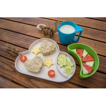 Set repas en bambou biodégradable Nuage (bleu/vert) - Tum Tum - 3