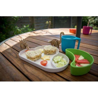 Set repas en bambou biodégradable Nuage (bleu/vert) - Tum Tum - 4