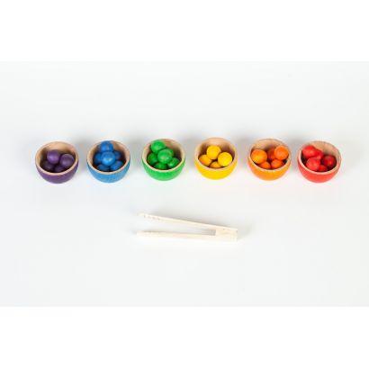 6 Bols et 36 billes colorés - Grapat - 1