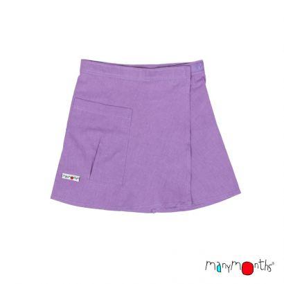 Jupe portefeuille - Sheer Violet - Manymonths - 1