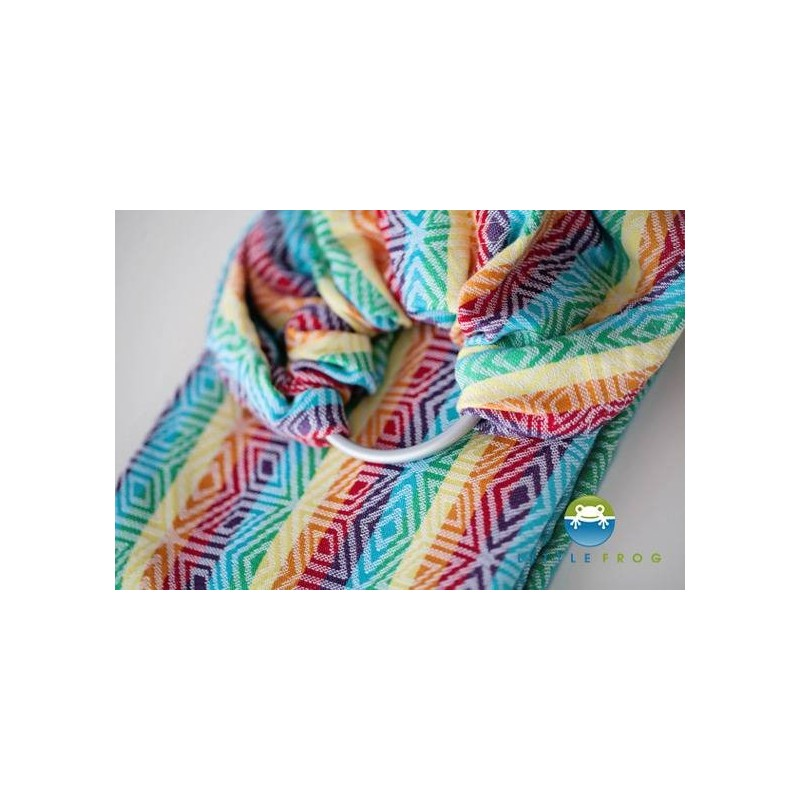 Sling Little Frog Jacquard - Rainbow Cube