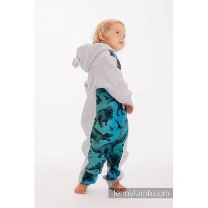 Combinaison bébé sweat - Gray melange & Jurassic Park - Lennylamb - 2