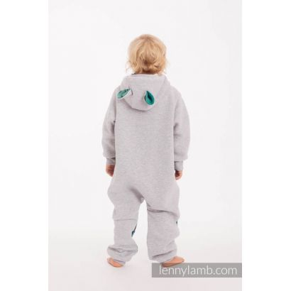 Combinaison bébé sweat - Gray melange & Jurassic Park - Lennylamb - 3