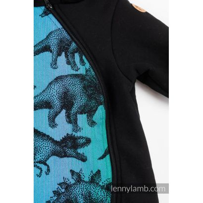 Combinaison bébé sweat - Black & Jurassic Park - Lennylamb - 3