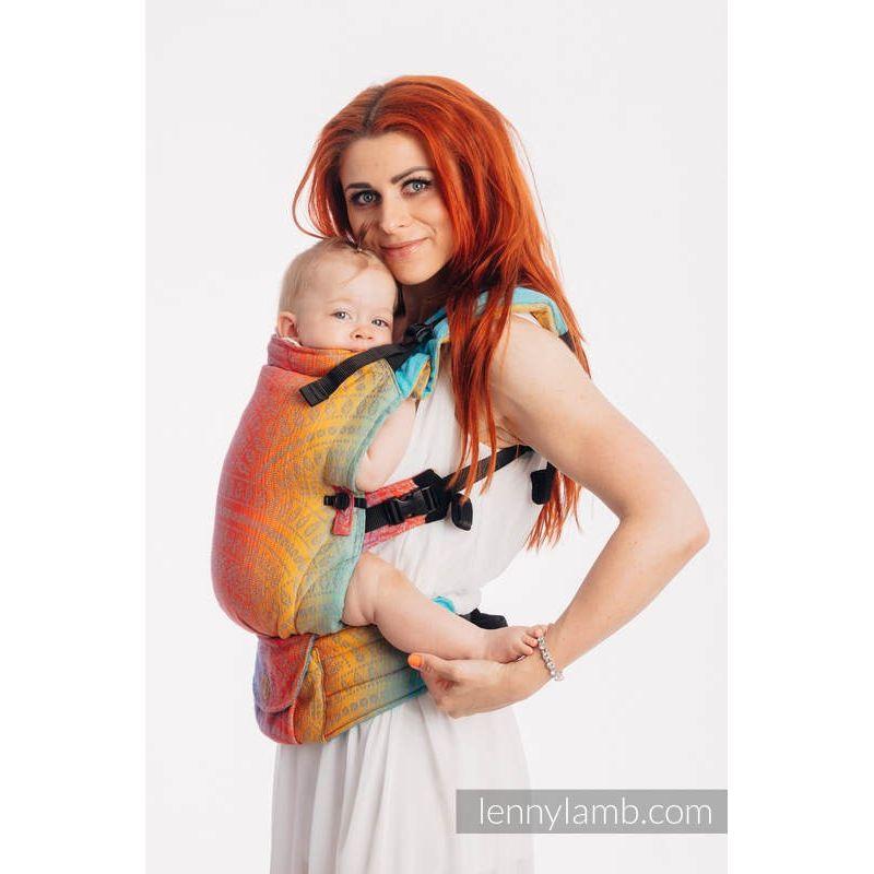 Porte bébé LennyUpGrade - Peacock's Tail - Sunset - Lennylamb - 1