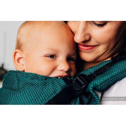 Porte bébé LennyUpGrade - Basic Line Emeraude - Lennylamb - 2