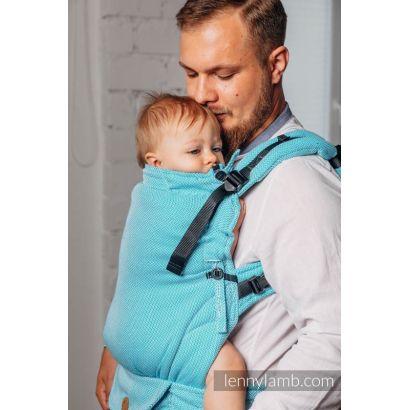 Porte bébé LennyUpGrade - Basic Line Little Herringbone Turquoise  - Lennylamb - 7