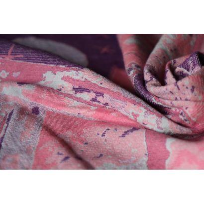 Echarpe Yaro - Everest Trio Silver Purple Rose - 100% Coton - 15