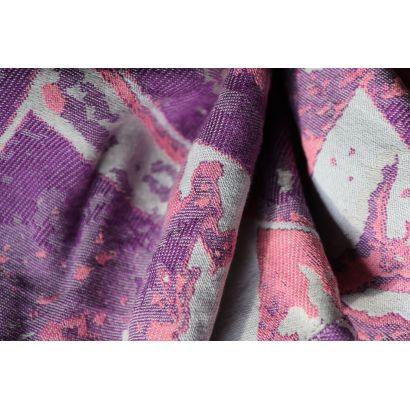 Echarpe Yaro - Everest Trio Silver Purple Rose - 100% Coton - 17