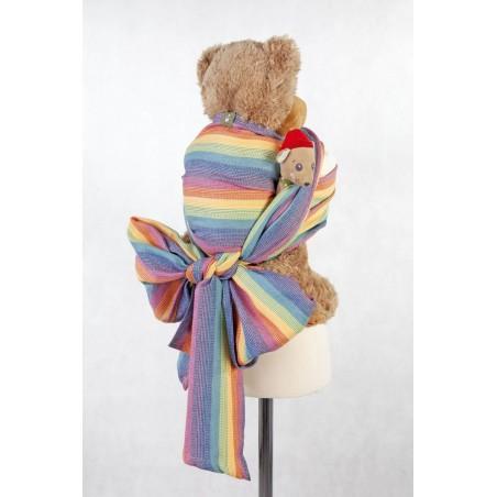 Echarpe Porte poupon - Sunrise rainbow (60% coton et 40% bambou) - Lennylamb
