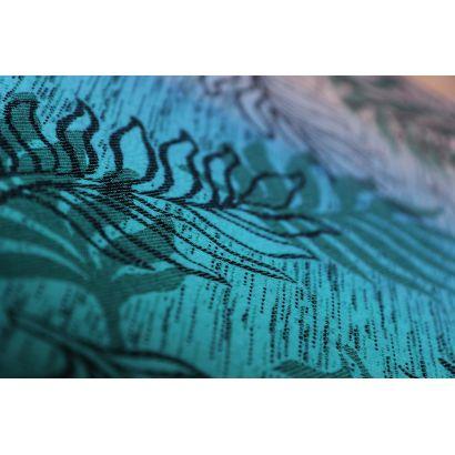 Echarpe Yaro - Oasis Duo Aqua Grad Emerald Navy Wool - 70% Coton/30% Laine - 3