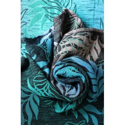 Echarpe Yaro - Oasis Duo Aqua Grad Emerald Navy Wool - 70% Coton/30% Laine - 8