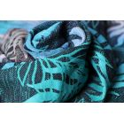 Echarpe Yaro - Oasis Duo Aqua Grad Emerald Navy Wool - 70% Coton/30% Laine - 9