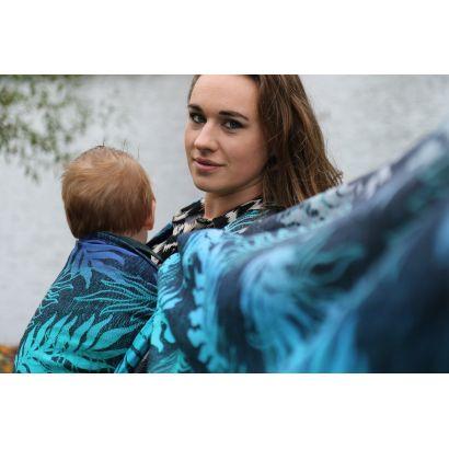 Echarpe Yaro - Oasis Duo Aqua Grad Emerald Navy Wool - 70% Coton/30% Laine - 10