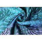 Echarpe Yaro - Oasis Duo Aqua Grad Emerald Navy Wool - 70% Coton/30% Laine - 14