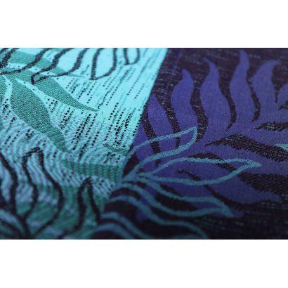 Echarpe Yaro - Oasis Duo Aqua Grad Emerald Navy Wool - 70% Coton/30% Laine - 15