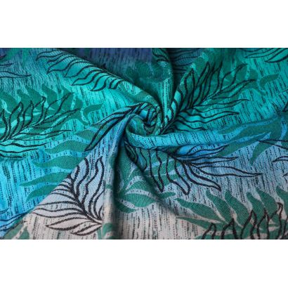 Echarpe Yaro - Oasis Duo Aqua Grad Emerald Navy Wool - 70% Coton/30% Laine - 16