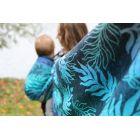 Echarpe Yaro - Oasis Duo Aqua Grad Emerald Navy Wool - 70% Coton/30% Laine - 17