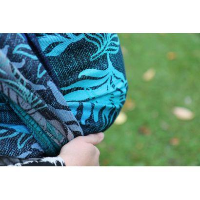 Echarpe Yaro - Oasis Duo Aqua Grad Emerald Navy Wool - 70% Coton/30% Laine - 21