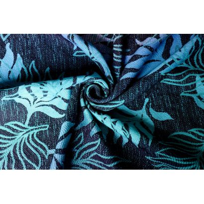 Echarpe Yaro - Oasis Duo Aqua Grad Emerald Navy Wool - 70% Coton/30% Laine - 22