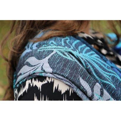 Echarpe Yaro - Oasis Duo Aqua Grad Emerald Navy Wool - 70% Coton/30% Laine - 23
