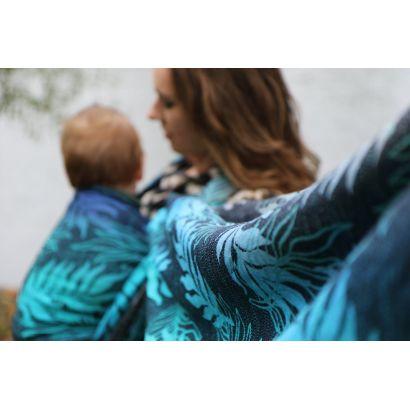 Echarpe Yaro - Oasis Duo Aqua Grad Emerald Navy Wool - 70% Coton/30% Laine - 24