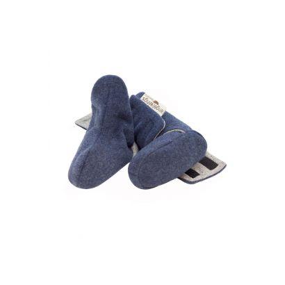 Bottes bleu pour bébé en laine - Angel Wings  - 2