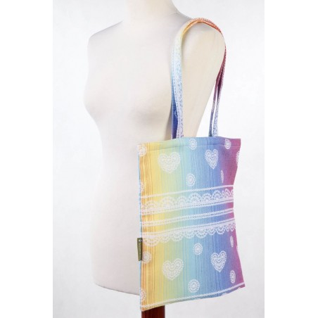 Shopping bag - Rainbow Lace - 100% coton - Lennylamb