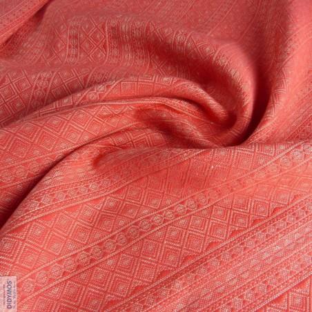Echarpe Didymos - Corallina avec chanvre - 60% coton & 40% chanvre - Edition Limitée