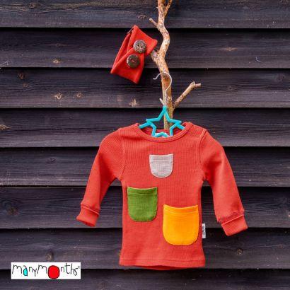 T-shirt manches longues avec poches à trésors - Manymonths Babyidea Oy - 2