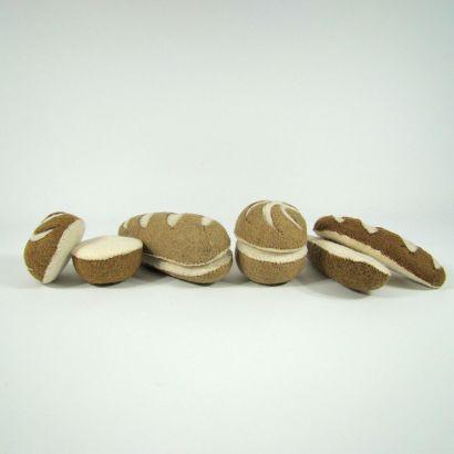 Petits pains en laine feutrée - 2 radis - Papoose Toys  - 2