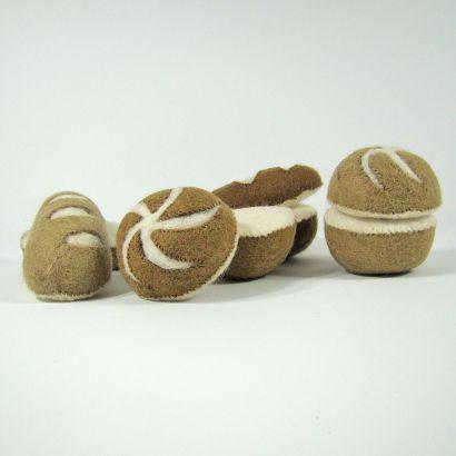 Petits pains en laine feutrée - 2 radis - Papoose Toys  - 3