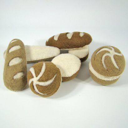 Petits pains en laine feutrée - 2 radis - Papoose Toys  - 4