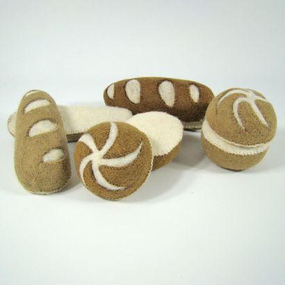 Petits pains en laine feutrée - 2 radis - Papoose Toys  - 5