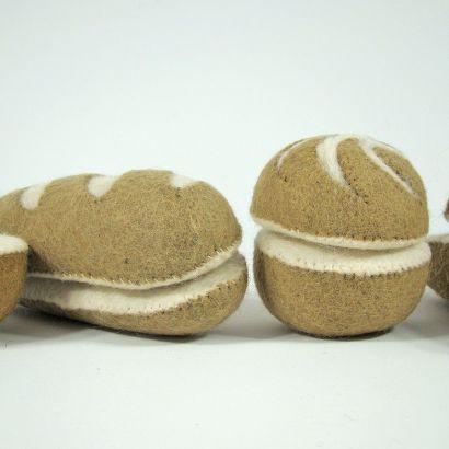 Petits pains en laine feutrée - 2 radis - Papoose Toys  - 6