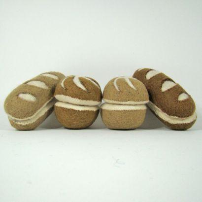 Petits pains en laine feutrée - 2 radis - Papoose Toys  - 1