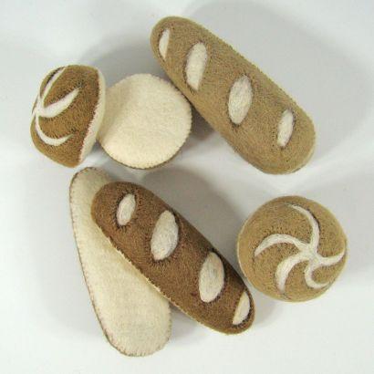 Petits pains en laine feutrée - 2 radis - Papoose Toys  - 7