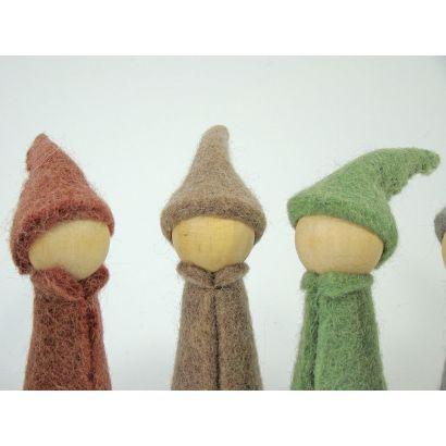 7 gnomes earth en feutre de laine - Papoose Toys  - 2