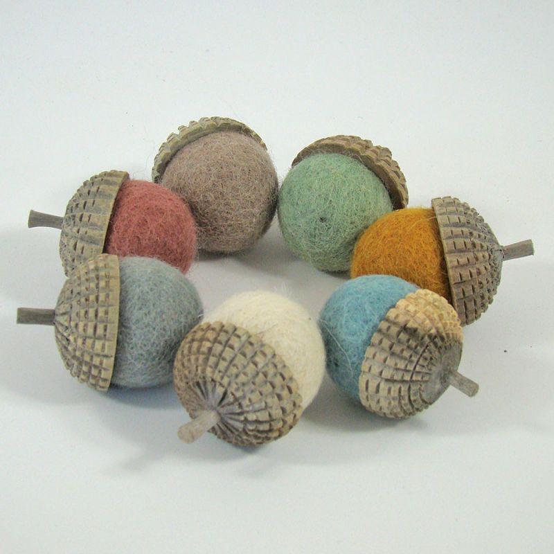7 glands earth en feutre de laine - Papoose Toys  - 1