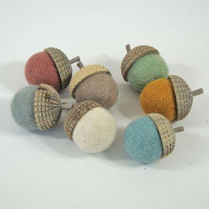 7 glands earth en feutre de laine - Papoose Toys  - 2