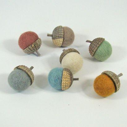 7 glands earth en feutre de laine - Papoose Toys  - 3