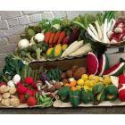 Lot de légumes en laine feutrée - Tomate, poivron et aubergine - Papoose Toys  - 2