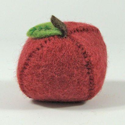 Lot de fruits en laine feutrée - Pomme, poire et orange - Papoose Toys  - 5