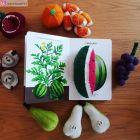Fruits en laine feutrée - Banane et pastèque - Papoose Toys  - 3