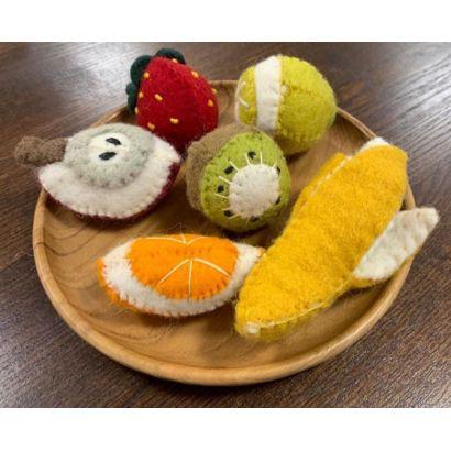 Fruits en laine feutrée - 6 quartiers d'orange - Papoose Toys  - 2