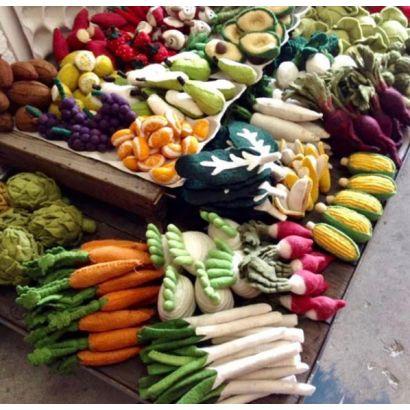 Fruits en laine feutrée - 6 quartiers d'orange - Papoose Toys  - 3