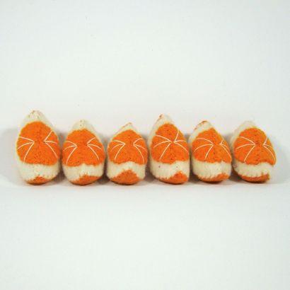 Fruits en laine feutrée - 6 quartiers d'orange - Papoose Toys  - 5