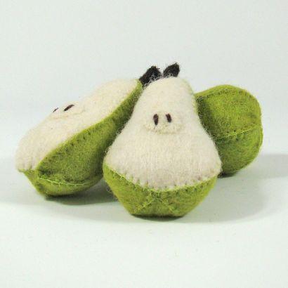 Fruits en laine feutrée - 3 poires - Papoose Toys  - 4